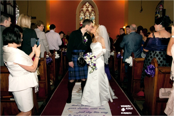groom's special verse for bride wedding aisle runner