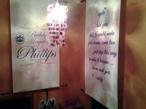 wedding aisle runner wall hangings