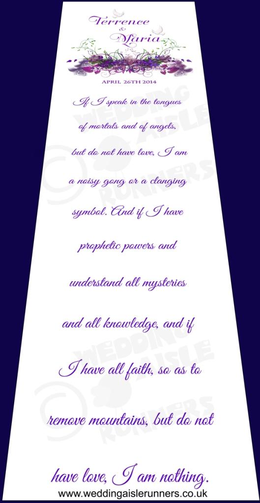 bible verse wedding aisle runner