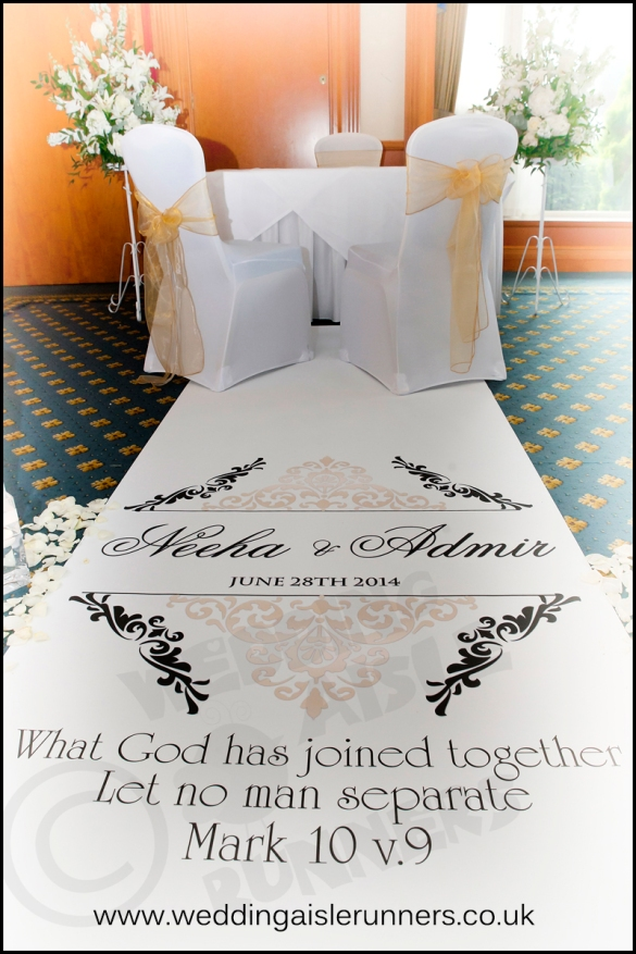 bible quote wedding aisle runner