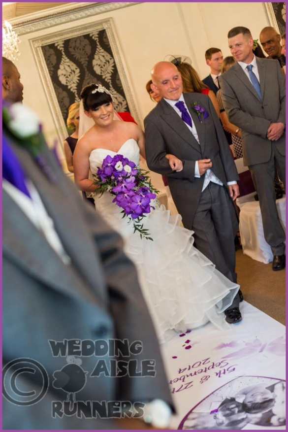 dad of all the walks wedding aisle runner