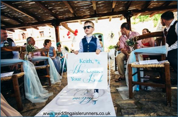 crete wedding aisle runner