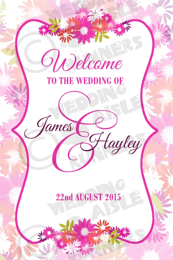 welcome to our wedding canvas