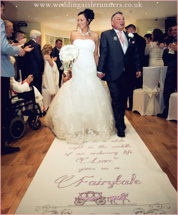 fairytale wedding aisle runner by weddingaislerunners.co.uk