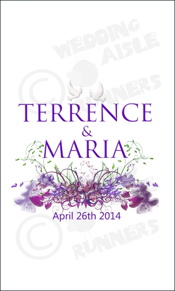 purple flowers name design
