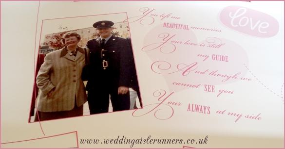 love story timeline wedding aisle runner