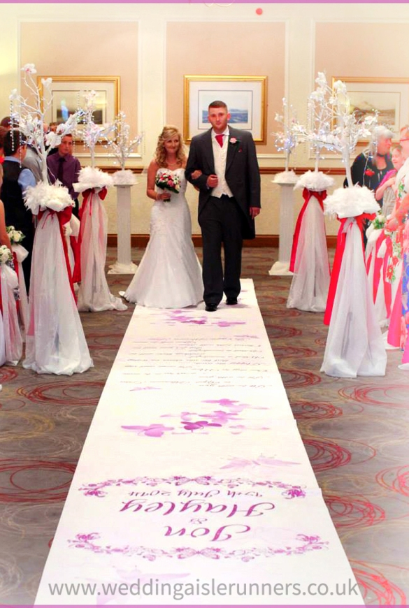 personalised wedding aisle runner by wedding aisle runners.co.uk