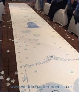 beauty and the beast wedding aisle runner
