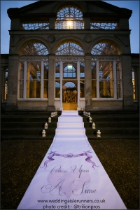 once upon a time wedding aisle runner design by www.weddingaislerunners.co.uk