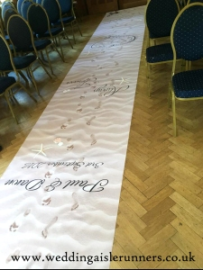 beach theme wedding aisle runner